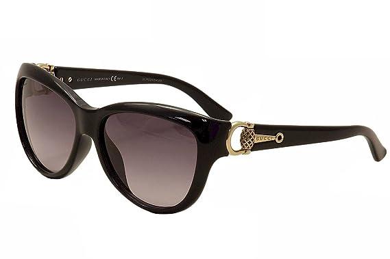 d90f8cfe45d Amazon.com  Gucci Women s GG 3711 S Black Shiny Gray Gradient  Gucci ...