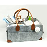Premium Felt Baby Diaper Caddy by On the Go Baby Products - Functional Large Portable Changing Station and Organizer - Organize Items and Essentials for Girls or Boys Use in Nursery, Car and Travel