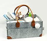 Cribs with Changing Table on Sale Premium Felt Baby Diaper Caddy by On the Go Baby Products - Functional Large Portable Changing Station and Organizer - Organize Items and Essentials for Girls or Boys Use in Nursery, Car and Travel