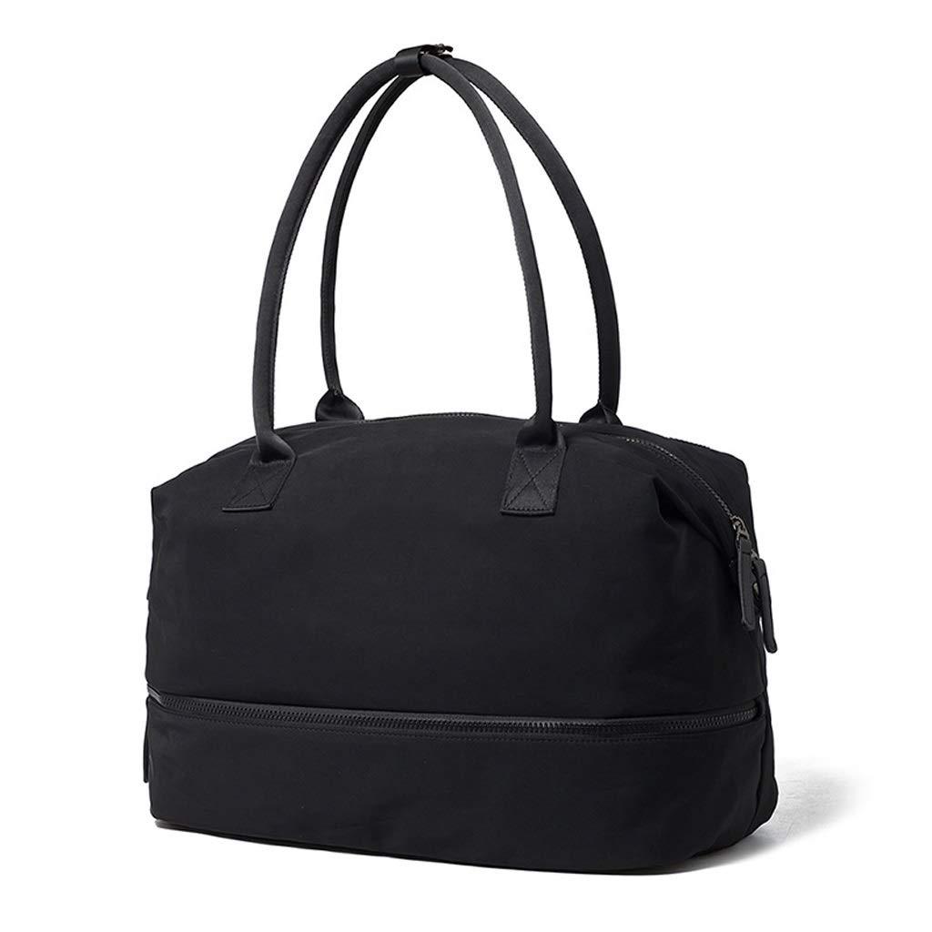 WANGXIAOLINYUNDONGBAO トラベルバッグ、ポータブル、マルチファンクション、フィットネスバッグ、短距離用バッグ、スポーツバッグ、ブラック,41*20*32cm B07NSXBHHS