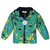 Arshiner Boy Baby Kid Waterproof Hooded Coat Jacket Outwear Raincoat Hoodies 2-9 Y, 130(Age 8-9Y), Green