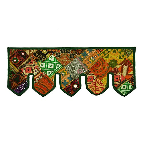 Embroidered Indian Cotton Toran Door Valances Wall Hanging Patchwork Home Décor