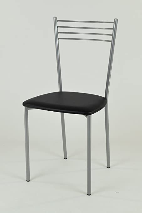 Tommychairs - Set 4 sedie Moderne e Design Elena per Cucina, Bar e Sala da  Pranzo, con Struttura in Acciaio Verniciato Color Alluminio e Seduta ...