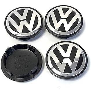 Boxcars Tapacubos Llanta de Aluminio 56mm, Tapa Centro llanta, Compatible Modelo VW: Bora
