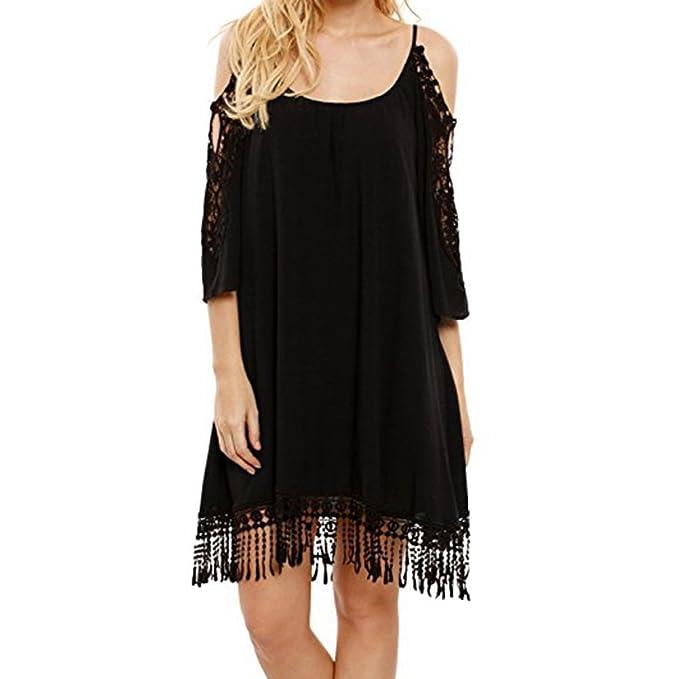 iShine falda larga mujer faldas cortas Vestido casual suelto,negro y blanco