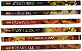 "5 Different Incense Packs-(plus 1 More) Money, Healing, Love, Luck, Dragons Blood,""Breaks All"" Incense"