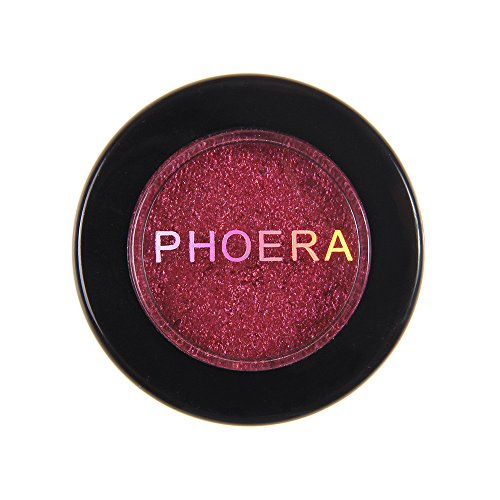 shamrock58 PHOERA Glitter Shimmering Colors Eyeshadow Metallic Eye Cosmetic Metallic Silty Texture Exquisite and Smooth (L)