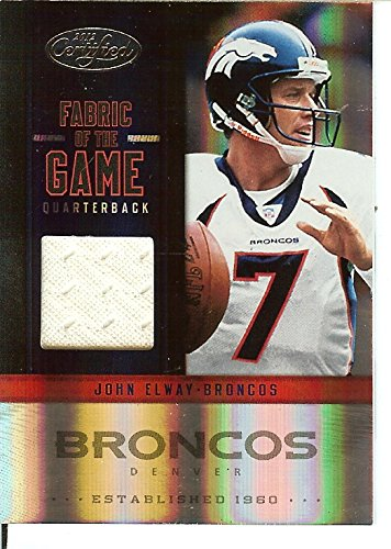 Certified Football NFL 2012 Fabric of the Game Jersey #25 John Elway MEM 37/199 Broncos by Certified