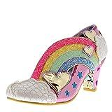Irregular Choice Womens Summer of Love Glitter Rainbow Wedge Heels - Pink - 9.5