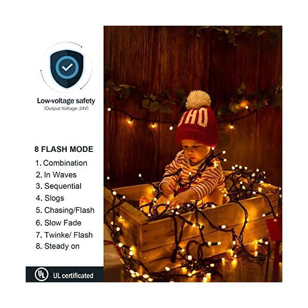 Avoalre Catena Luminosa 2000 LEDs 50M Stringa Luci Natale 8 Modalità Interno/Esterno Impermeabile LED Luci Decorative per Atmosfera Romantica Camera Festa Nozze Compleanno Natale Bianco Caldo 4 spesavip