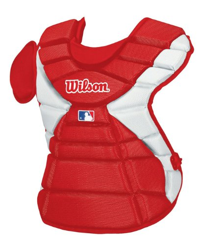 Wilson Pro Stock Hinge FX 2.0 Baseball Catcher's Chest Protector (Scarlet, 16-Inch) ()