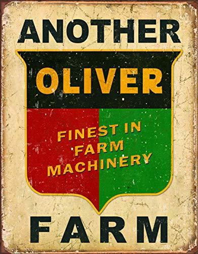 Desperate Enterprises Another Oliver Farm Tin Sign, 12.5