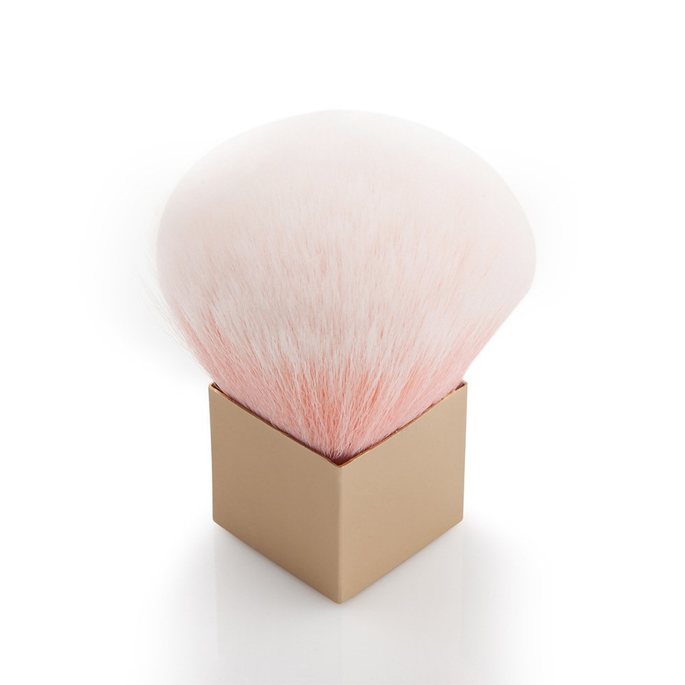 TOPBeauty New Design Square Pink Soft Makeup Brush Retractable Pro Foundation Cosmetic Blusher Face Powder Brushes