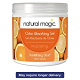 Natural Magic 4119D Odor Absorbing Gel, Scentillating Citrus, 14 oz Jar, 12/Carton