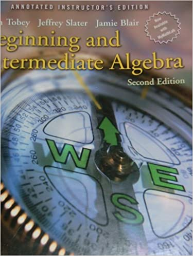 Book Beginning And Intermediate Algebra, Annotated Instructor's Edition, 2nd Edition