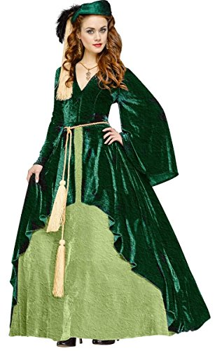 Gone With Wind Costumes (Fun World Women's Gone with the Wind-Scarlet O'hara Costume, Green,)
