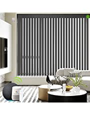 Yoolax Motorized Vertical Blinds Works with Alexa Hardwire Electric Blinds Remote Control Window Blind Customize