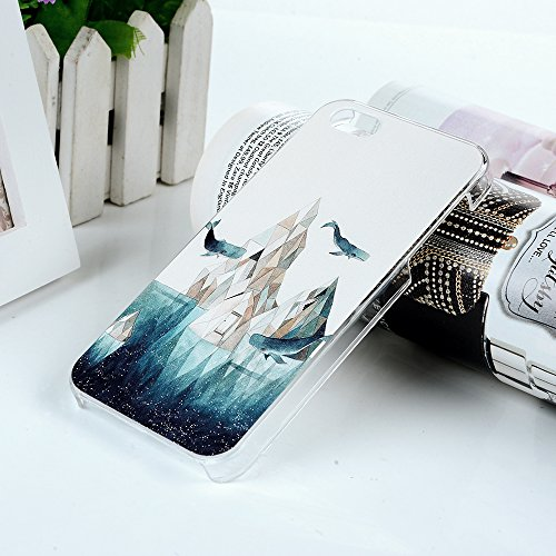 Badalink Premium Hardcase Hülle für iPhone 5 5S Cover, Bunte Malerei Hardskin - Hartschale Backcover Case Schutzhülle iPhone 5 5S SE Hülle - iPhone 5 5S SE Schutzhülle - iPhone 5 5S SE Case