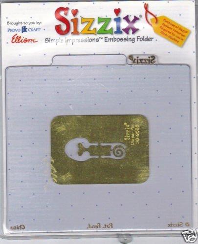Sizzix Simple Impressions Embossing Folder Diaper Pin (Sizzix Simple Impressions Embossing Folder)