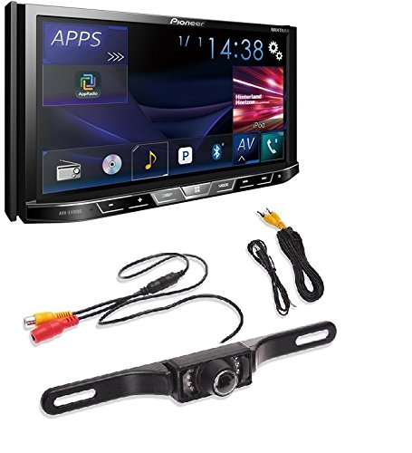 pkg Pioneer AVH-X490BS In-Dash 2-DIN 7-Inch Touchscreen DVD Receiver with Built-in Bluetooth +Cache Backup Camera With Nightvision