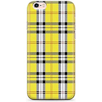 new arrival ba900 bdc4a Case Warehouse iPhone 6 Case, iPhone 6s Designer Yellow Plaid Phone Case  Clear Ultra Thin Lightweight Gel Silicon TPU Protective Cover | Checked ...