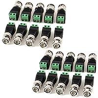 AimHD 20 Pack BNC Male Connectors DIY for CCTV Surveillance Video Camera Coaxial/Cat5/Cat6 Cables