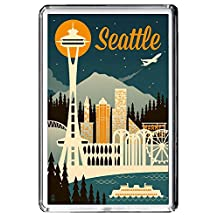 B649 SEATTLE FRIDGE MAGNET USA VINTAGE TRAVEL PHOTO REFRIGERATOR MAGNET