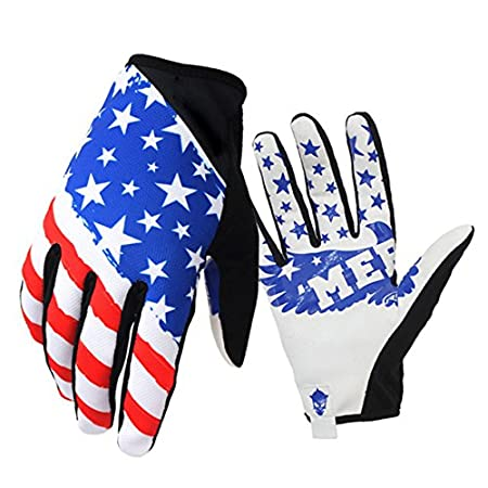 Amazon.com : Mens MX Racing Gloves Full Finger Riding Safety Gloves Wear-resistant for Bike MTB Motocross : Clothing