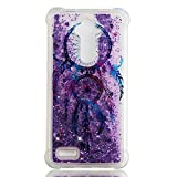 Quicksand ZTE ZTE ZMAX Pro/Carry Z981 Case,Awin Soft TPU Painted Shockproof Dynamic Liquid Bling Glitter Quicksand Cover Case for ZTE ZMAX Pro/ZTE Carry Z981/ZTE Blade X Max(Dream Catcher)