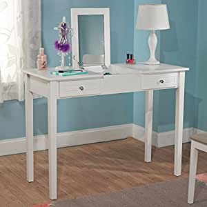 Amazon Com Bedroom White Charming Vanity Desk With Mirror