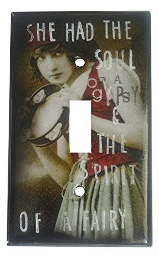 [She Had the Soul of a Gypsy and The Spirit of a Fairy Mixed Media Light Switch Cover] (Lady Marmalade Dance Costume)
