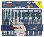 Bosch DSB5010 Daredevil 10-Piece Standard Spade Bit Set w/Full cone Threading and Spurred Tip