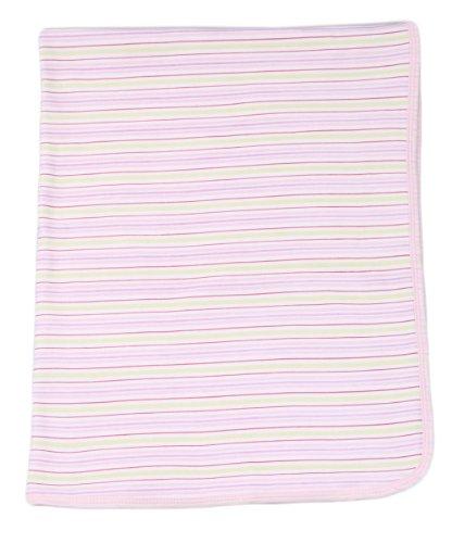 Spasilk Baby-girls 2 Ply Receiving Blanket Stripe Print, Pink, One Size