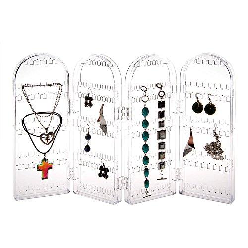 fitTek® 240 Holes Acrylic Foldable Stand Jewelry Holder for Earrings, Bracelet etc.