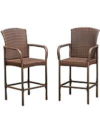 costway rattan wicker bar stool
