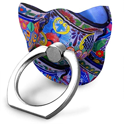 ger Ring Holder Stand Hand Grip Universal 360 Rotation for iPhone iPad Samsung Galaxy Mobile Etc. All Phones and Tablets (Novel Beautiful Bowl Colorful Pottery Prints) ()
