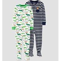 Pijama 2 Macacão Carter's manga longa menino Dino listrado
