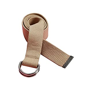 Canvas Web Belt D-Ring Buckle With Metal Tip Fashion Multi-color