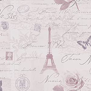 Heather Lilac Silver 97751 Calligraphy French