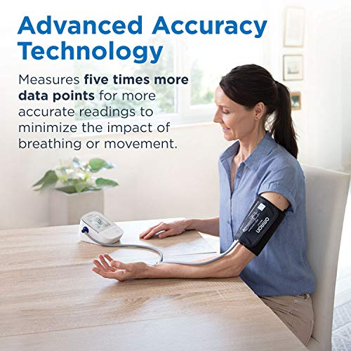 Omron Silver Blood Pressure Monitor, Upper Arm Cuff, Digital Bluetooth Blood Pressure Machine, Storesup To 80 Readings 4