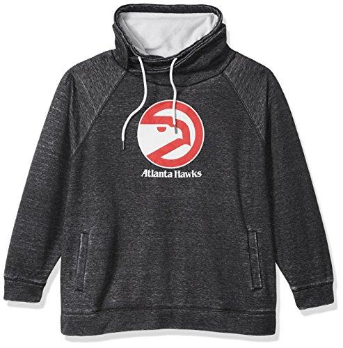 Touch by Alyssa Milano NBA Atlanta Hawks Spiral Sweatshirt Plus, 4X, Charcoal Grey