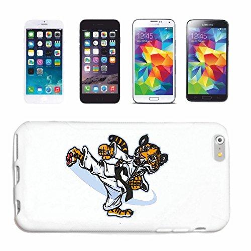 "cas de téléphone iPhone 7 ""KARATE TIGER IN KARATE SUIT LORSQUE EXERCER BIG CAT LEOPARD KING TIGER SIBERIAN TIGER BIG CAT CATS VISAGE PANTHERA"" Hard Case Cover Téléphone Covers Smart Cover pour Apple i"