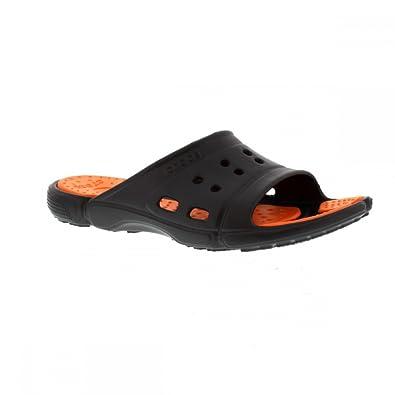 f68490981eda Crocs Mens Prepair II.5 SS Slide Clogs 15697-0J9-184 Graphite Orange ...