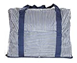 Travel Duffel Bag Waterproof Foldable Luggage Organizer Holiday Gym Overnight Clothes Suitcase Storage Bag Weekend Tote Flight Bag (Navy Blue)