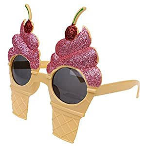 MonkeyJack Funny Summer Beach Style Sunglasses Cherry Ice Cream Glasses Party Costume