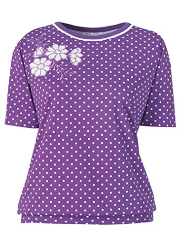 AmeriMark Banded Bottom Polka Dot (Embroidered Banded Bottom Shirt)