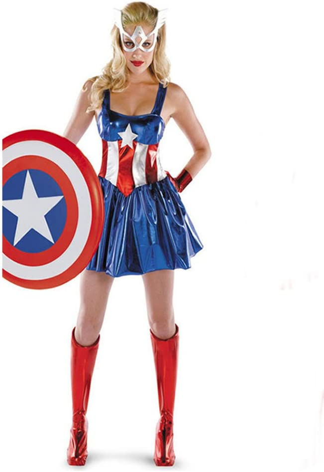 Molly Disfrazar Mujer Maravillarse Capitán América Sassy Deluxe ...