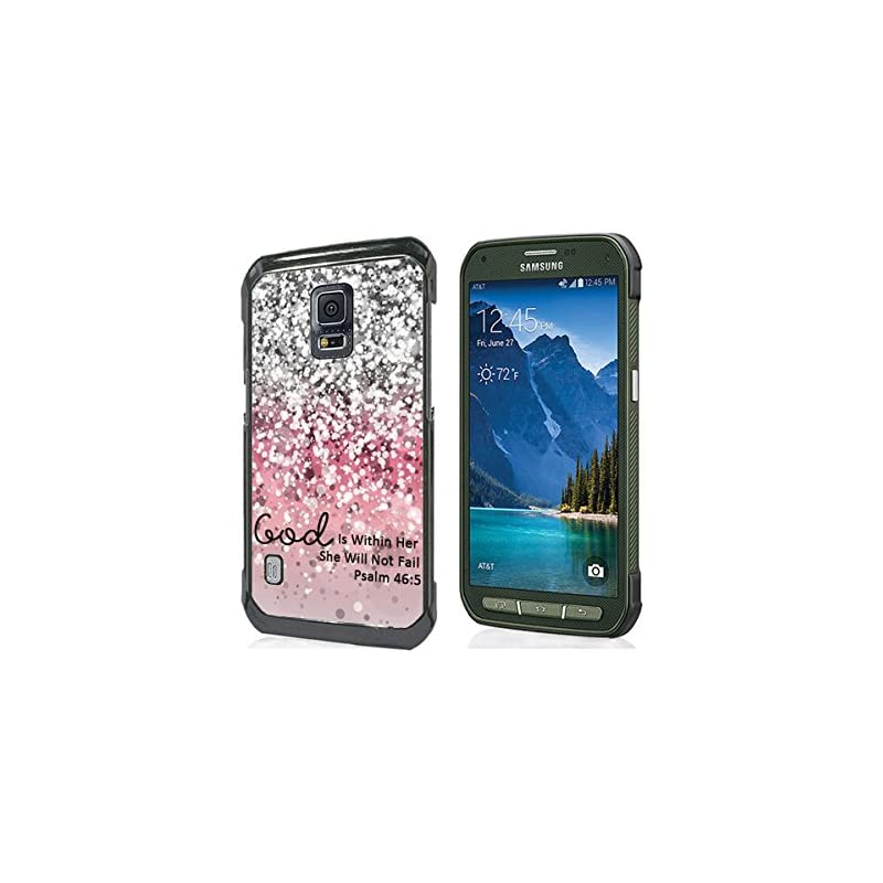 Galaxy S5 Active Case Christian Quotes,G