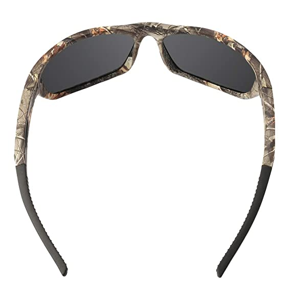 fa3e0753dd Amazon.com   MOTELAN Polarized Outdoor Sports Sunglasses Tr90 Camo Frame  for Men Women Driving Fishing Hunting Reduce Glare (Black Blue (Upgraded))    Sports ...