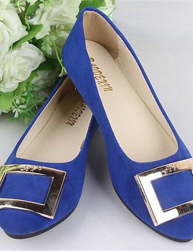 plano blue más royal colores Flats cn39 zapatos de de punta redonda mujer uk6 talón PDX availably Casual eu39 us8 fXv6qwO